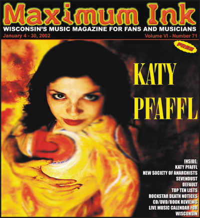 former Milwaukeean now NYC girl Katy Pfaffl on the cover of Maximum Ink in Jan. 2002 - photo by Joshua Silk