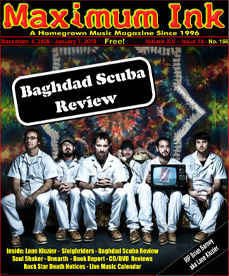 Baghdad Scuba Review on the cover of Dec. 2009 Maximum Ink - photo by Nick Berard
