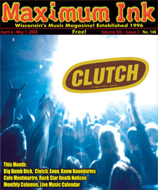 Clutch on the cover of Maximum Ink in April 2008