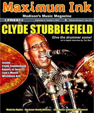 Clyde Stubblefield on stage at the High Noon Saloon 8/30/2015 - photo by Mary Sweeney Photography