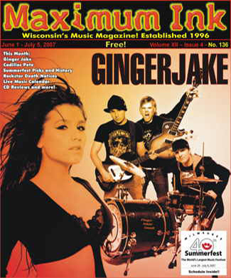 Minnapolis' Gingerjake on the cover of Maximum Ink June 2007