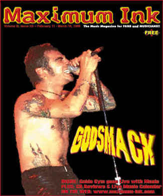 Godsmack on the cover of Maximum Ink in early 1998