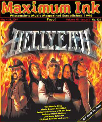 HELLYEAH on the cover of Maxmum Ink May 2007