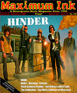 Hinder on the cover of Maximum Ink for January 2009