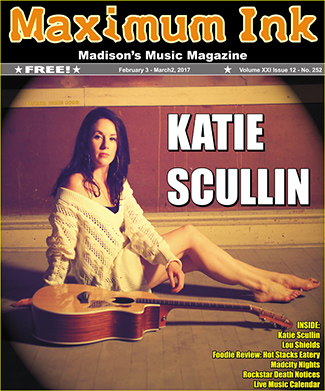 Katie Scullin on the cover of Maximum Ink for February 2017 - photo by John Hart