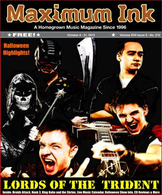 Lords of the Trident on the Cover of Maximum Ink in Oct. 2013