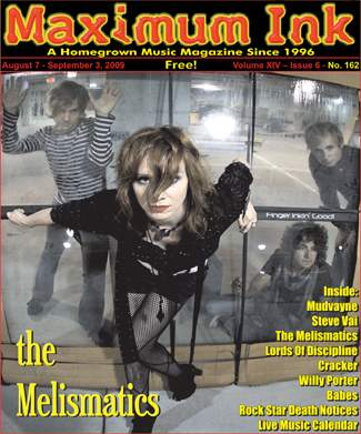 Minneapolis' The Melismatics on the cover of Maximum Ink for August 2009
