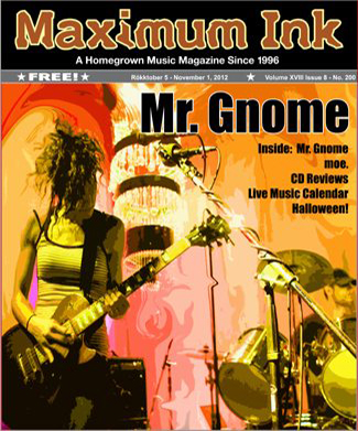Mr. Gnome on the cover of Oct. 2012 Maximum Ink