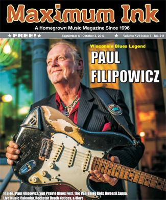 Jefferson native Paul Filipowicz on the cover of Maximum Ink September 2013 - photo by Nick Berard