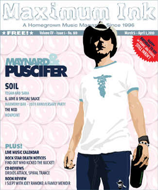 Puscifer on the cover of Maximum Ink's 14 year anniversary issue!!