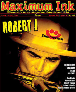 Madison's Robert J on the cover of Maximum Ink in June 2008