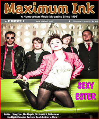 Sexy Ester on the cover of Maximum Ink in April 2013 - photo by Nick Berard