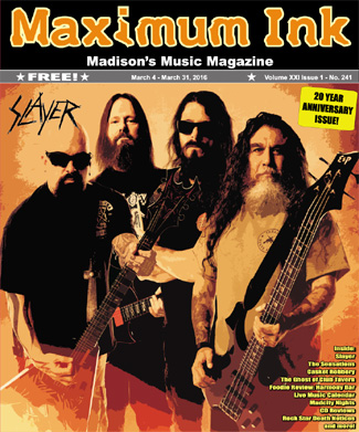 Slayer on the cover of Max Ink's 20 year anniversary issue