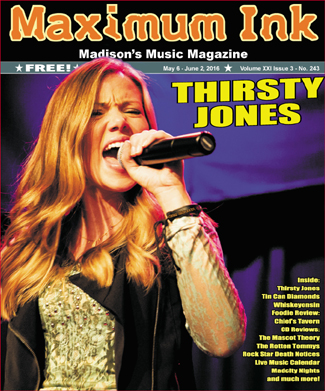 Thirsty Jones on the cover of Maximum Ink in May 2016 - photo by David Luciano