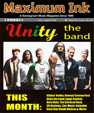 Unity on the cover of the July 2011 Maximum Ink