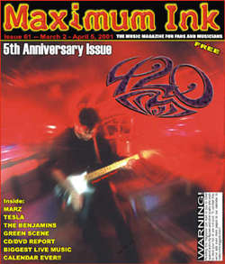 Rockford's now defunct 420 on the cover of Maximum Ink in March 2001