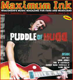 Wes Scantlin of Puddle of Mudd on the cover of Maximum Ink in August 2001 - photo by Christopher McCollum