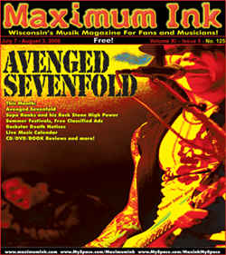 Avenged Sevenfold on the cover of Maximum Ink July 2006 - photo by Jenn Dohner