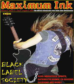 the back of Zakk Wylde, Black Label Society on cover of Maximum Ink
