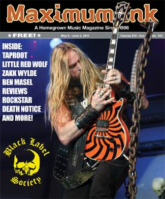 Black Label Society on cover of Max Ink in May 2011 - photo by Kelly Lloyd