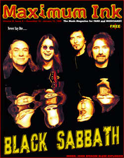 Black Sabbath on the cover of Maximum Ink