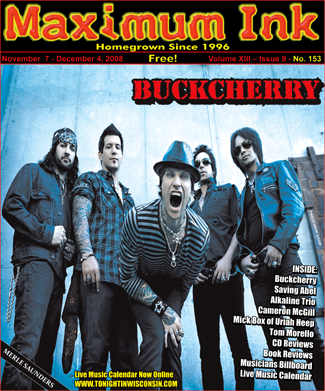 Los Angeles' Buckcherry on the cover of Maximum Ink in November 2008