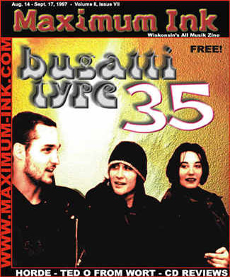 Madison's Bugattitype 35 on the Cover of Maximum Ink August 1997