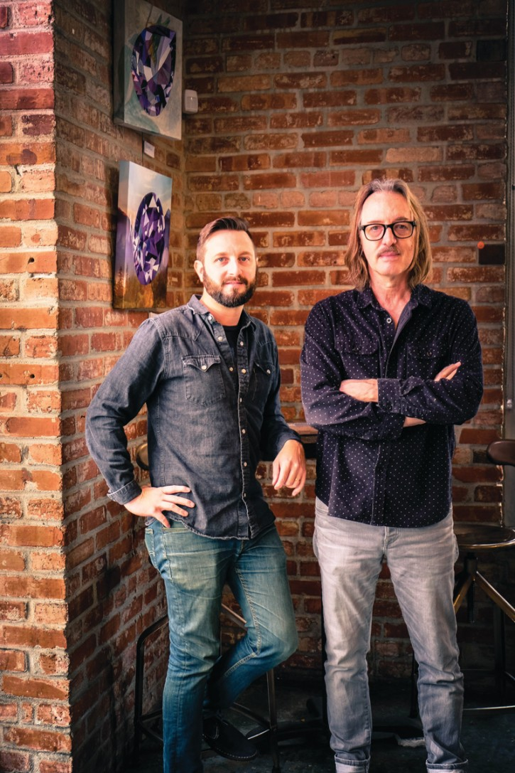 Erik Kjelland with Butch Vig