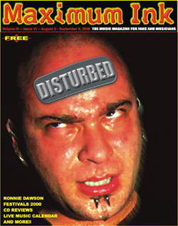Disturbed on the cover of Maximum Ink in August 2000