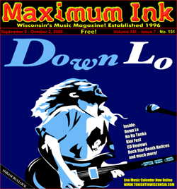 Twin Citie's Down Lo on the cover of Maximum Ink September 2008 - Artwork by Cory Harrison