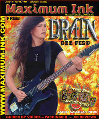 Sweden's Drain S.T.H. on the cover of Maximum Ink - photo by Paul Gargano