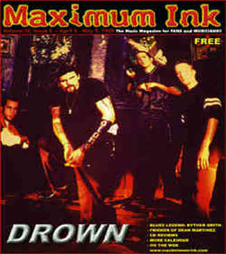 Drown on the cover of Maximum Ink in April 1999