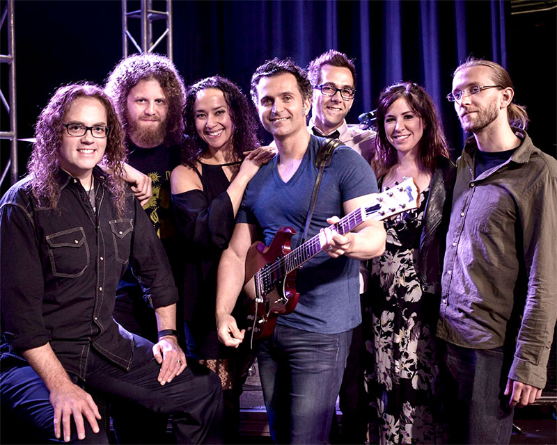 Dweezil Zappa and his band