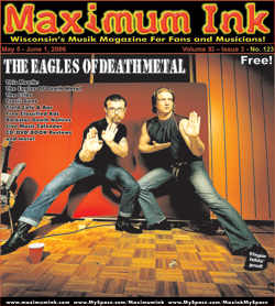 The Eagles of Death Metal on the cover of Maximum Ink in May 2006