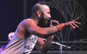 Nahko Bear delivering his message