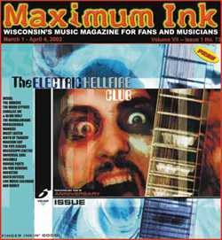 Electric Hellfire Club on the cover of Maximum Ink in March 2002 - photo by Rokker