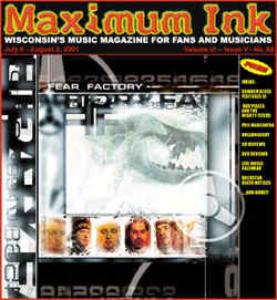 Fear Factory on the cover of Maximum Ink in July 2001