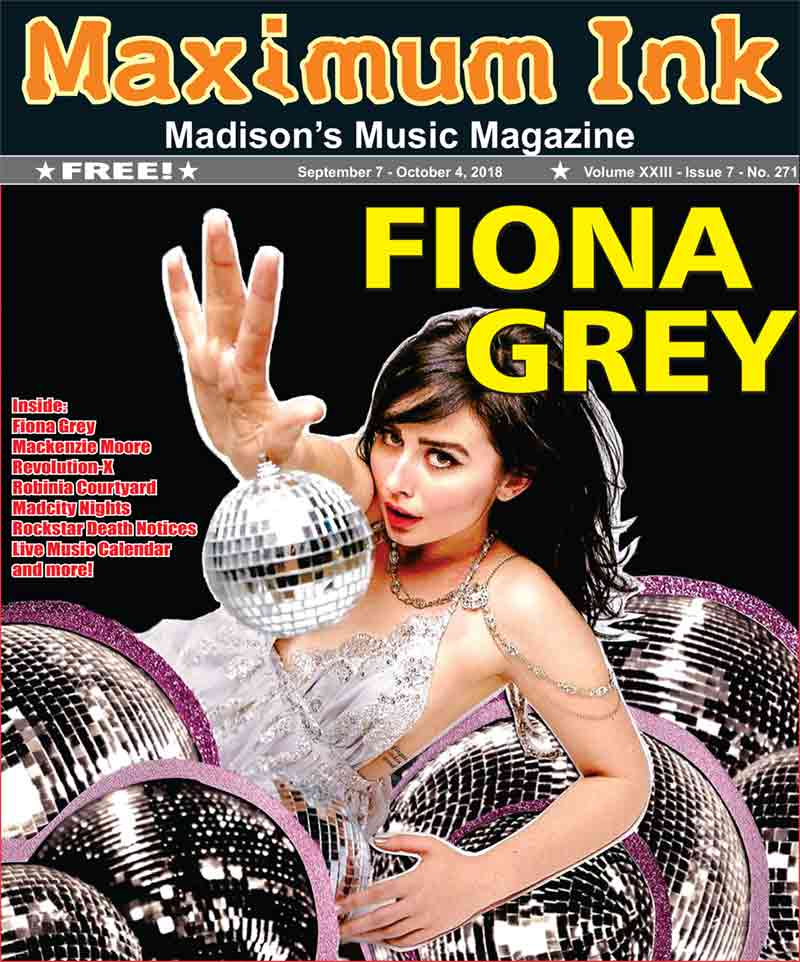 Fiona Grey on the cover of Maximum Ink for September 2018