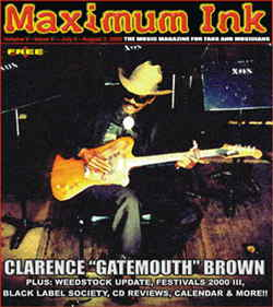 Clarence Gatemouth Brown on the cover of Maximum Ink July 2000