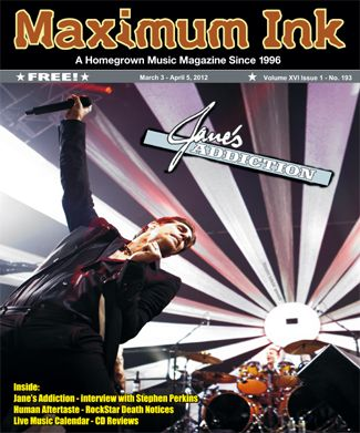 Jane's Addiction's Perry Farrel and Stephen Perkins, on the cover of Max Ink Mar/2012