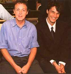 Tim Janis (seated right) with Paul McCartney