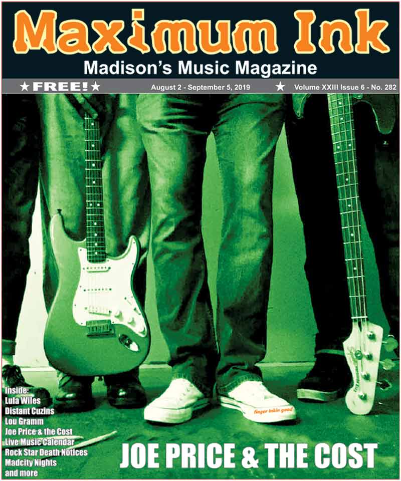 Joe Price & the Cost on the cover of Maximum Ink for August 2019