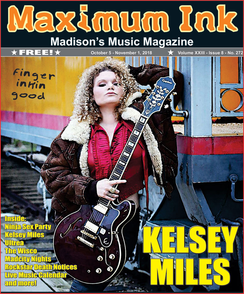 Madison's Kelsey Miles on the cover of October 2018 Maximum Ink