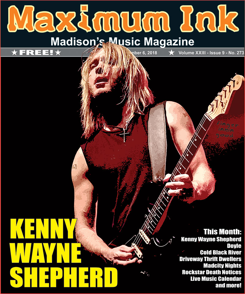 Kenny Wayne Shepherd on the cover of Max Ink for November 2018