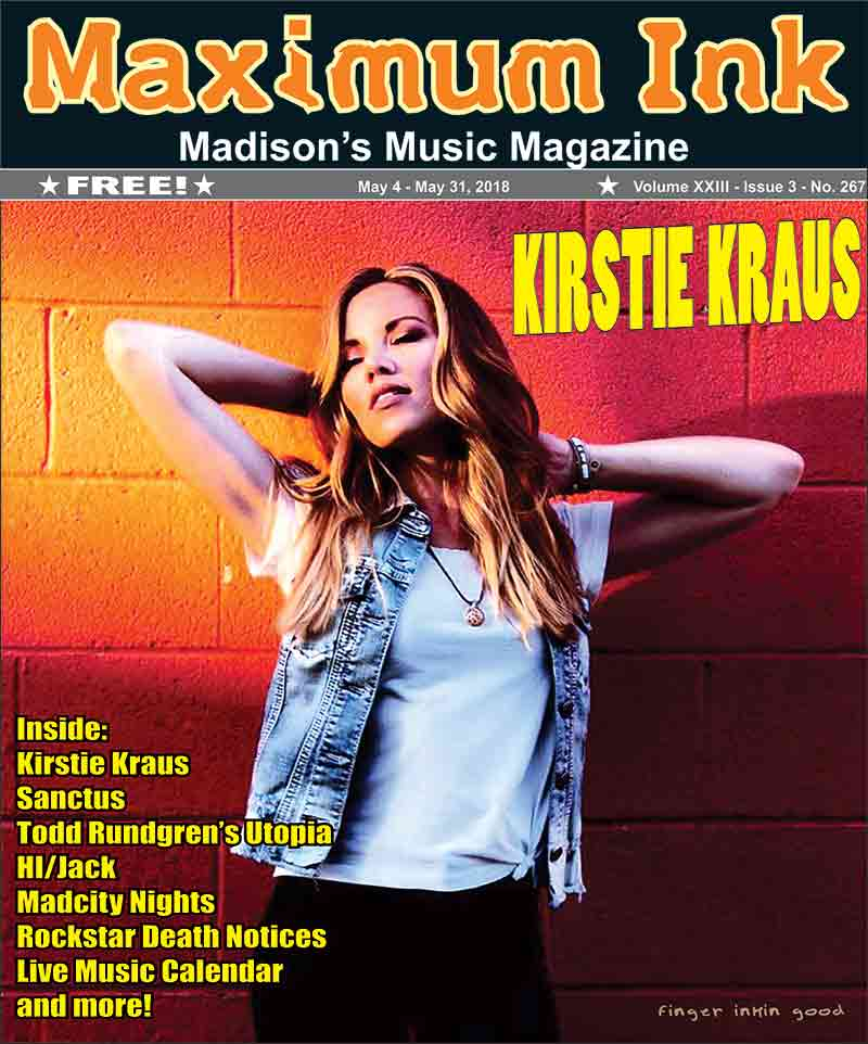 Kirstie Kraus on the cover of Maximum Ink for May 2018