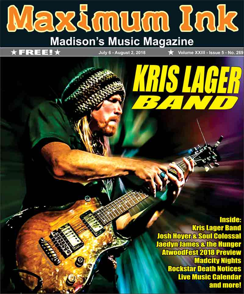Kris Lager on the cover of Maximum Ink