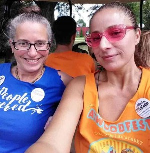 Allison Rocker & Helen attend McCabe Rally at the capitol - photo by Helen Valentino