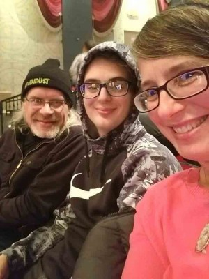 Rökker, Alice & Nikko @ Overture Center for Pink Floyd's classic album performance of The Wall on 11/15/2019 - photo by Alice Selfie