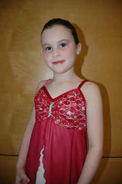 Elizabeth in her recital outfit, May 2009 - photo by Rokker
