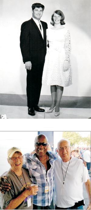Jerry & Michelle getting married circa 1965 and then backstage at Atwoodfest 2015 hanging with Sonny Knight